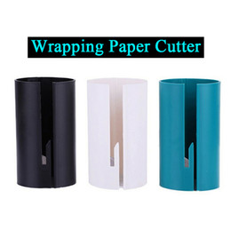 Wholesale Wrapping Paper Clamps Wrapping Paper Cutter Organizer for Christmas Gift Wrapping Paper Roll Cutting Slicer Cutter Tool