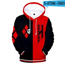 Wholesale harley quinn hoodies women for sale - Group buy Personality D Print Harley Quinn Hoodies Cosplay Hoodie Men women Sweatshirt Autumn Winter Boys girls Clothing Hip hop Pullover X1021
