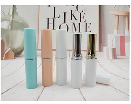 11mm White Lipstick Tube DIY Empty Refillable Lip Balm Cosmetic Packaging Container Fast Shipping