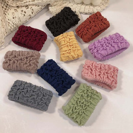 Solid Color Folded Pony Tails Holder Knitting Colourful Widen Hair Rope Fashion Accessories Women Lady Gifts 0 65ht N2 on Sale