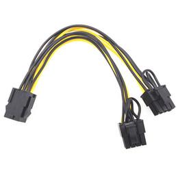 PCI-E 6-контактный к 2x 6 + 2-контактный до 2 х PCIE 8 (6 + 2) PIN-код материнской платы Графика видеокарта PCI-E GPU VGA Splitter Power Cable на Распродаже
