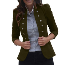 Wholesale green frock coat for sale – winter Vintage Solid Woman Gothic Jacket Steampunk Tunic Rock Frock Uniform Male Vintage Punk Costume Metal Coat Outwear A10