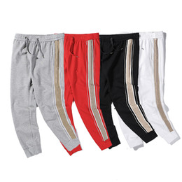 hommes latéraux achat en gros de-news_sitemap_home20SS Hommes Pantalons Designer de marque de sport Pant Top qualité Fashion Side Stripe Hip Hop Sweatpants Joggers Pantalons Streetwear Casual