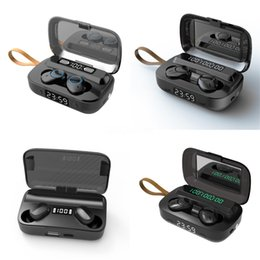 x6 cell phones UK - X6 Touch With Charing Box Single Earbuds Earhook Wireless Bluetooth Headset 4.2 Sports Running Earphone Waterproof 10Pcs Lot#766
