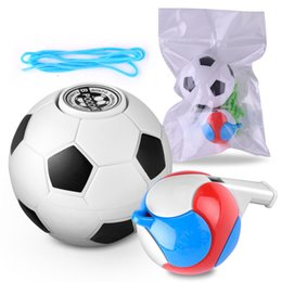 kids whistles Australia - newest ABS hand spinner football basketball spinner finger football fidget ball with whistle toys with opp bag DHL free shipping
