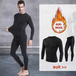 Wholesale mens leggings underwear for sale - Group buy Fanceey Winter Mens Thermal Underwear Keep Warm Long Johns Men Fitness flecce compression underwear thermo undershirts leggings