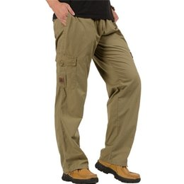 Wholesale large pocket cargo pants for sale - Group buy Combat Military Tactical Pants Men Plus Size Large Multi Pockets Army Cargo Pants Casual Cotton Straight pants Trouser XL XL