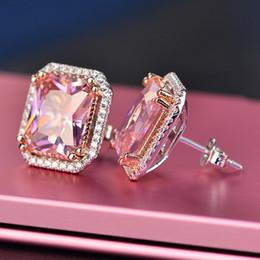 designer earrings Arrival Best Friends 18K White Gold Plated Earings Big Diamond Earrings for Women White Zircon Earring