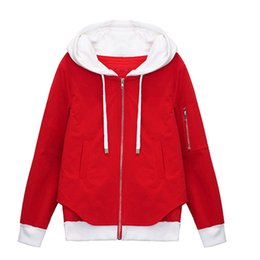 Wholesale female joker jacket for sale - Group buy Spring Autumn Women New Fashion Joker Simple Hooded Female Jacket Casual Long Sleeve Ladies Tunic Cw391