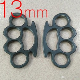 Ring THICK 13 mm Thickness Heavy STEEL BRASS KNUCKLE DUSTER self defense tool brass knuckle clutch 1pc on Sale