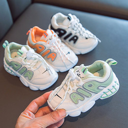Wholesale Kids Fashion Shoes 2020 Autumn New Children Sport Style Sneakers Boys Breathable Running Shoes Girls Casual Sneakers New
