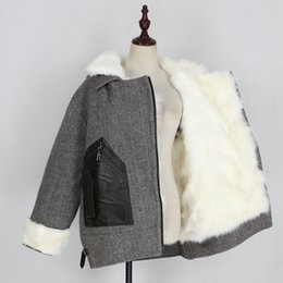 Wholesale fur pocket liners resale online - 2020 Winter Women Real Fur Coat Turn down Collar Fox Fur Liner Pockets Outerwear Thick Double faced Fur Female