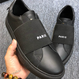 Wholesale Paris Men Women Personality Trainer Comfort Casual Dress Shoe Handmade Sneaker Mens Leisure Leather Shoes Womens Trainers Lowtop