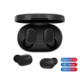 Wholesale xiaomi pink earphones resale online - A6S Wireless Bluetooth Earphone For Redmi Airdots Wireless Earbuds TWS Headset Noise Cancelling Mic for iPhone Huawei Xiaomi Samsung