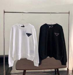 Wholesale Fashion Desinger Men Women Hoodies Sweatshirt with Silicone Inverted Triangle Black White Color Autumn Winter Men Women Hoodies Oversize S-L