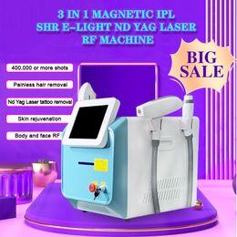 Großhandel 3 in 1 Multifunktionale Schönheitsmaschine IPL SHR LASER ND YAG Dauerhafter Haarentferner / SHR-IPL-Haar-Reduktion + Q Switch Laser Tattoo-Entfernung