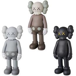 Ingrosso 20CM mini bambola di disegno di arte moderna smlll mentire originale giocattolo falso compagno Action Figures PVC Graffiti azione giocattolo figura statua Luminous KAWS