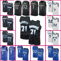 tracy mcgrady jersey 2021 - Anthony 1 Edwards Kevin 21 Garnett Jersey Karl-Anthony 32 Towns Minnesotas Basketball Tracy Mohamed McGrady Penny Bamba Hardaway