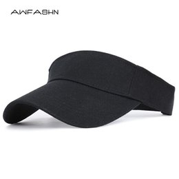 golf tennis sun visors Australia - 2020 Spring summer Sports Sun Cap Men Women Adjustable cotton Visor UV Protection Top Empty Tennis Golf Running Sunscreen Hat