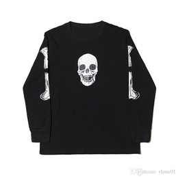 Wholesale skull hip hop clothing for sale - Group buy 19SS Women Clothes Hoodie Skull Printed Cotton Hoodies Hip Hop Big Women Men Sweatshirts size M XL