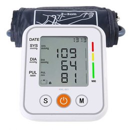 Wholesale Electronic Monitor Tonometer Home Health Care Cuff Pulse Measurement Tool Portable LCD Digital Upper Arm Blood Pressure Monitor