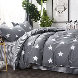 toddler bedding sets Australia - USA Russian Bedding Sets Children Toddler Duvet Cover Set 2 4 PCS Bedding Twin King Queen Size Bedclothes Star140x200 200x200cm 1012