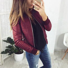 Wholesale zipper cardigans spring coat for sale - Group buy Long Sleeve Stand Collar Zipper Cardigan Women Jackets Black Basic Bomber Short Jacket Spring Autumn Slim Coat Ladies