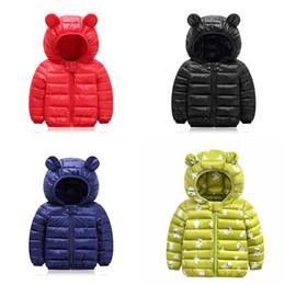 Wholesale girl coats long sleeve resale online – Kids Down Hoodies Coats Cotton Lighter Zipper New Pressing Technology Long Sleeve Toddler Baby Boys Girls Winter Jacket Snow Coat