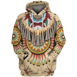 totem hoodie Australia - Indian Chief Native Tribal Totem Ethnic Hippie Men Women Pullover Hoodie Jackets Hooded Sweatshirt A66