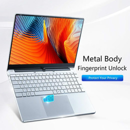 Wholesale -5257U 15.6 Inch Fingerprint Unlock Metal Laptop Portable Business Office PC Computer Gaming Netbook Students SSD Netbook1 Laptops