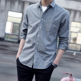 shirt youth NZ - Shuda Paul Large Oxford Spinning Long Sleeve Youth Casual Shirt Men's New Product