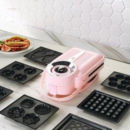 Großhandel Brotmacher 650W Elektrische Sandwich Maker Timing Waffel Toaster Baker Frühstücksmaschine Takoyaki Pancake Donuts Sandwichera 220v1