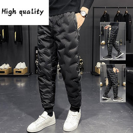 Wholesale 80 lower for sale – custom 2020 Winter new down pants men s extra warm outdoor casual pants duck down