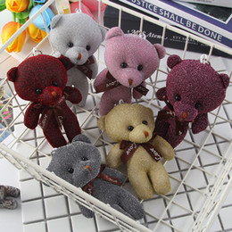 mini teddy bear bouquet NZ - 1pcs Mini Teddy Stuffed Animals Plush Toy Bouquet Bears Flowers for Wedding Gift Little Bear Small Pendant