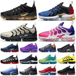 Wholesale lemon top resale online - Top tn plus Light Bone Royal Blue Metallic Gold mens running shoes Pink Purple Hyper Violet Lemon Lime women sports trainers sneakers