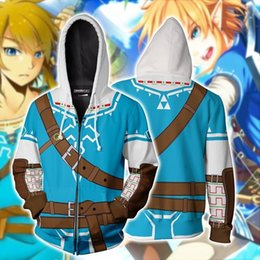 Wholesale animation cosplay resale online - ILrwJ game hot door New zipper Legend animation cosplay Zelda New hot door game Zelda Legend Hoodie D sweater animation D sweater cosplay z