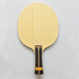 5 layers pure wood with 2 layers super zl carbon fiber table tennis racket Horizontal grip FL and ST handle ping pong blade 201209 on Sale