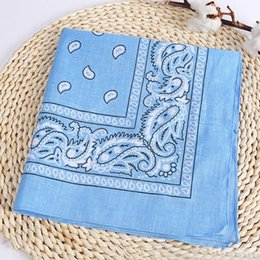 Discount handkerchief headband Printing Head Wrap Neck Scarf Multifunctional Cotton Square Towel Handkerchief Wristband Hip Hop Style Outdoor Riding