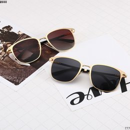 14 Luxury Square 1 Pilot Sunglasses gold brown Gradient Titanium women Designer Fashion Brand Drive Sun glass Eyewear Summer New with Box