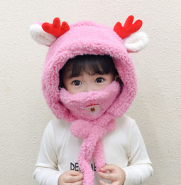 stars chiffon scarf white 2021 - Kids Cute Warm Scarf Cartoon Baby Hat Mask Set Infant Toddler Autumn Winter Velvet Caps Santa Deer Merry Christmas Gift for Children 2020