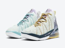 Lebron 18 Reflections Flip Kids Shoes With Box 2020 James 18 Men Women Sport Shoes Size 4-12 on Sale
