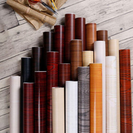 home decor furniture Australia - Thicken PVC Waterproof Self Adhesive Wallpaper Roll Furniture Cabinets Decorative Film Wood Grain Stickers For DIY Home Decor