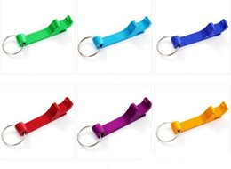 coloured key rings UK - Creative multifunction dazzle colour bottle opener A portable key ring with beer cans drink bottle opener