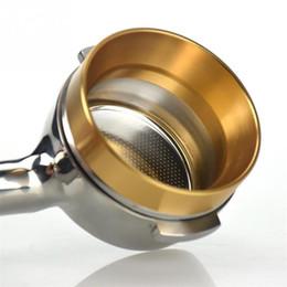 Vente en gros Bague de dosage intelligente en aluminium de dosage en aluminium pour la tasse de café Tool Tool ESPASSO BARISTA pour 51 54 58mm Filtre à café Tamper EWF2550