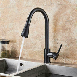 """Kitchen Sink Faucet Single Handle Pull Out Sprayer With 10"""" Cover"""