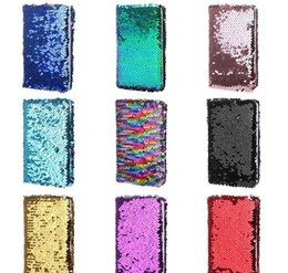 magnetic notebooks Australia - Creative Sequins Notebook Notepad Glitter Diary Memos Stationery Office Supplies Stationery 78 She bbywXi packing2010
