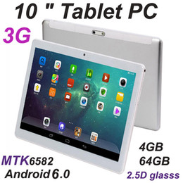 dual screen tablet android 2020 - Octa Core 10 inch MTK6582 IPS capacitive touch screen dual sim 3G tablet phone pc android 6.0 4GB 64GB cheap dual screen