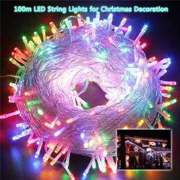 Wholesale Plug-in Fairy String Lights LED String Lamp Chains 10M 100lights 20M 200lights 30M 300lights Party Wedding Decor LED Rave Toys E121607