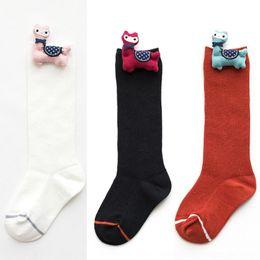 Wholesale long patterned socks resale online - d0IdI autumn and winter New socksstyle socks stockings stockings cartoon Doll alpaca pattern doll calf girls long children s socks Wryq8
