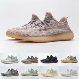 Wholesale shoes resale online - Kanye V2 Sneakers Mens Womens Israfil Flax Carbon Lundmark Sage M Reflective Static Cinder Yechiel Beluga Cream White Running Shoes